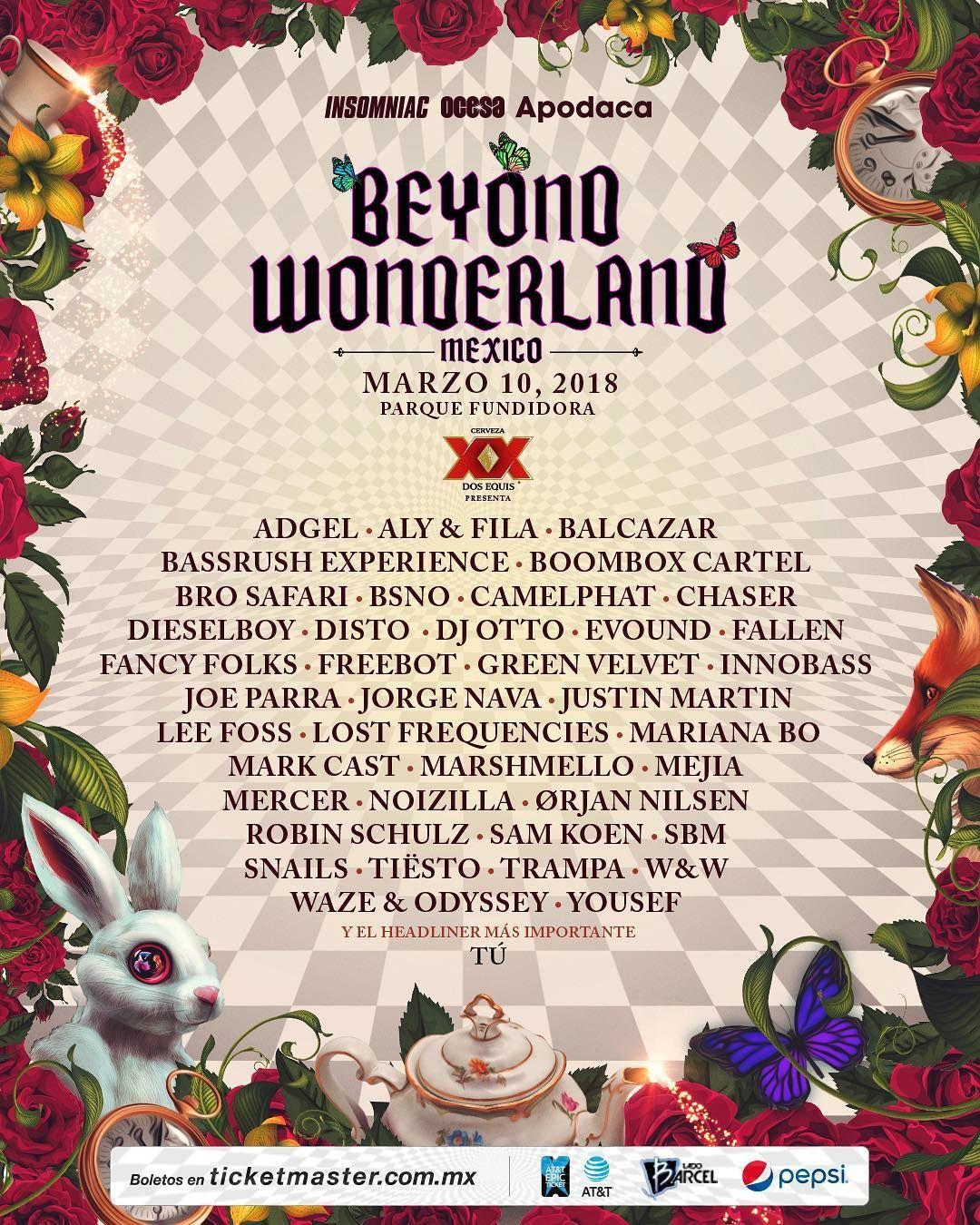 Tiësto date | Beyond Wonderland | Monterrey, Mexico - march 10, 2018