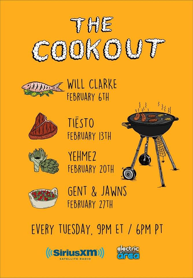 Tiësto, new mix for The Cookout - February 13, 2018 | Radio Electric Area & Sirius XM
