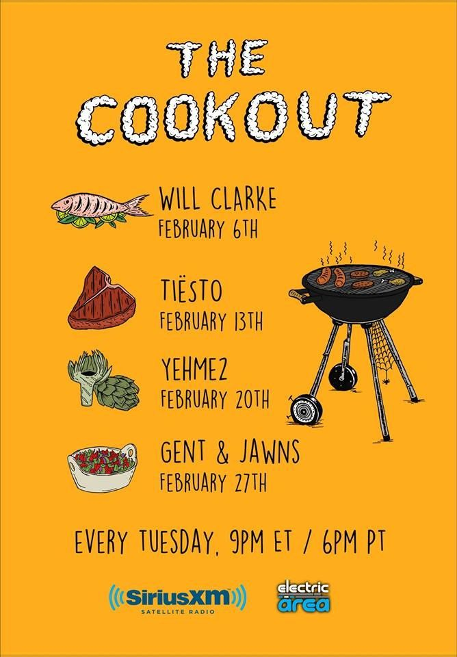 Tiësto tracklist and mp3   The Cookout   Radio Electric Area, Sirius XM - february 13, 2018