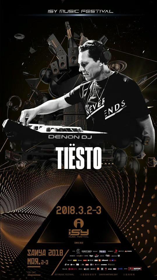 Tiësto date | Isy Music Festival | Sanya, China - March 03, 2018
