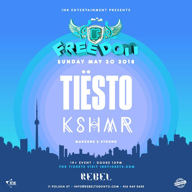 Tiësto date | Rebel | Toronto, ON, Canada - may 20, 2018