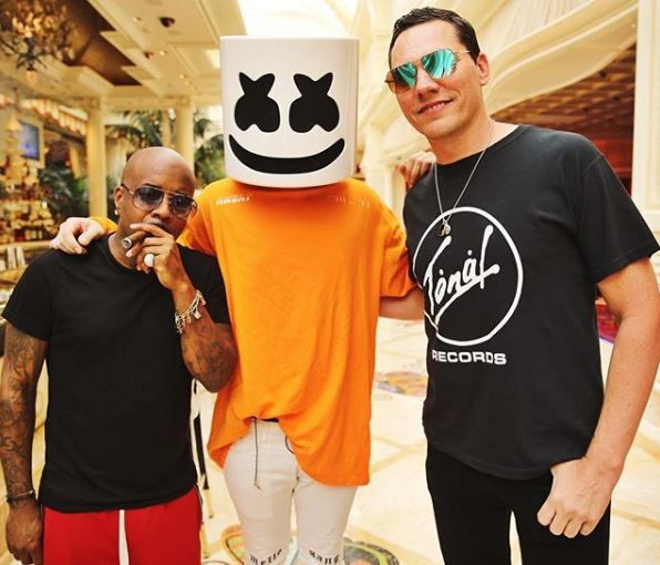 Photos Tiësto (guest) at Encore Beach Club with marshmello and Alok - Las Vegas, NV - july 15, 2018