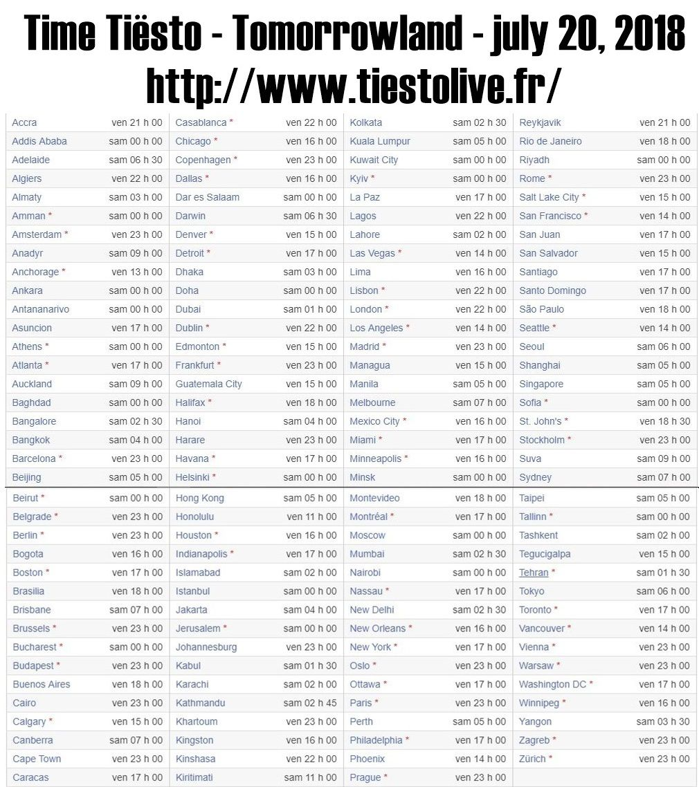 Live Tiësto | Tomorrowland | Boom, Belgium - July 20 and 27, 2018 | Set Times