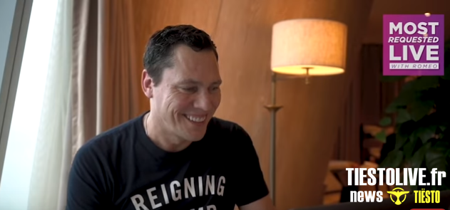 Live chat Tiësto for Most Requested Live