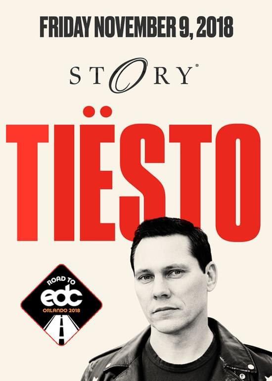Tiësto date | Story | Miami, FL - november 09, 2018