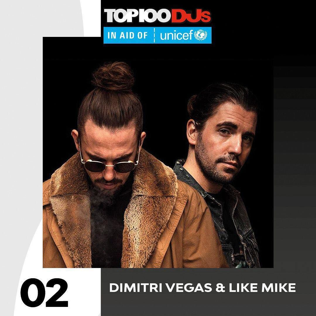 Top 100 Dj Mag 2018 02 - Dimitri Vegas & Like Mike (=)