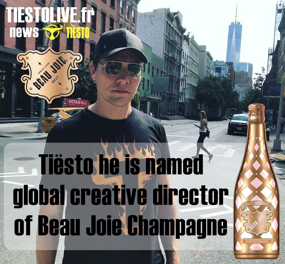 Tiësto he is named global creative director of Beau Joie Champagne