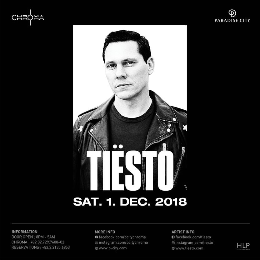 Tiësto date | Chroma | Incheon, korea - december 01, 2018