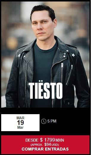 Tiësto date | Melody Maker | Cancún, Mexico - march 19, 2019