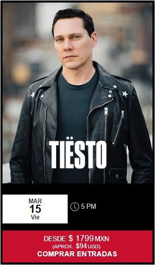 tiesto melody maker cancun march 15, 2019