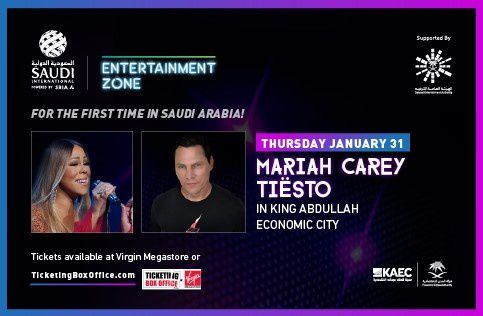 Tiësto date | KAEC The Venue | Jeddah, Saudi Arabia - January 31, 2019 Maria Carey