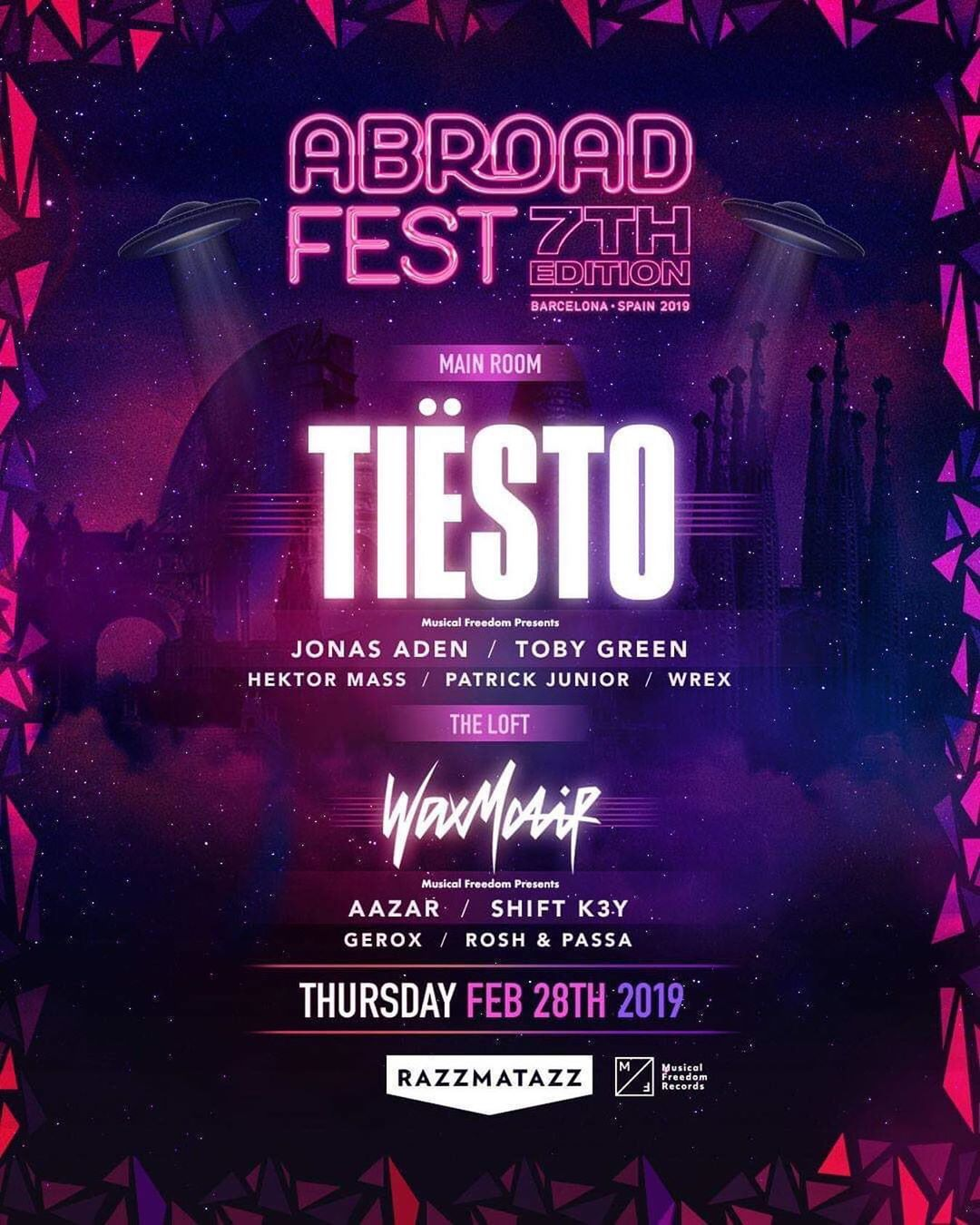 Tiësto photos |  Abroad Festival | Barcelona, Spain - February 28, 2019