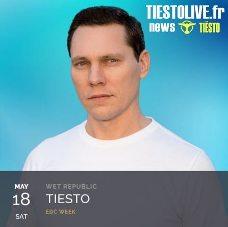 Tiësto date  Wet Republic  Las Vegas, NV May 18, 2019
