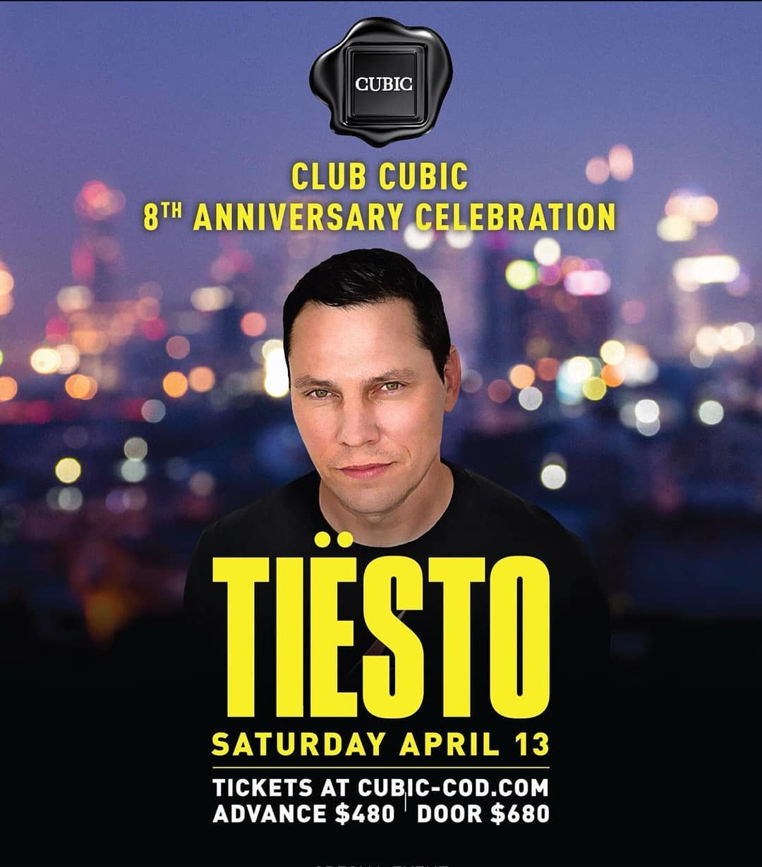 Tiësto date | Club Cubic | Cotai, Macau - April 13, 2019