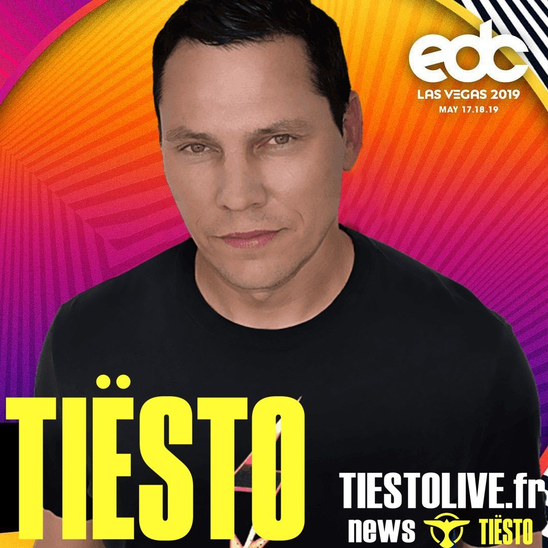Tiësto date | Electric Daisy Carnival | Las Vegas, NV - may 17/18/19, 2019