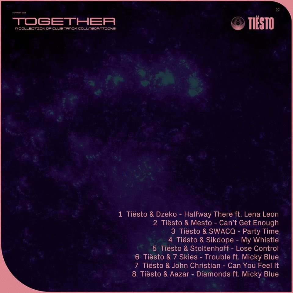 Tiësto - Together - EP, inclus 8 tracks