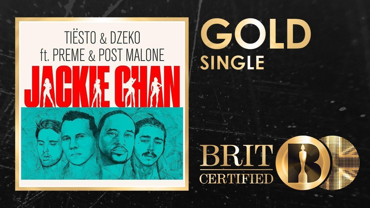 Gold Single UK 2018 for Jackie chan