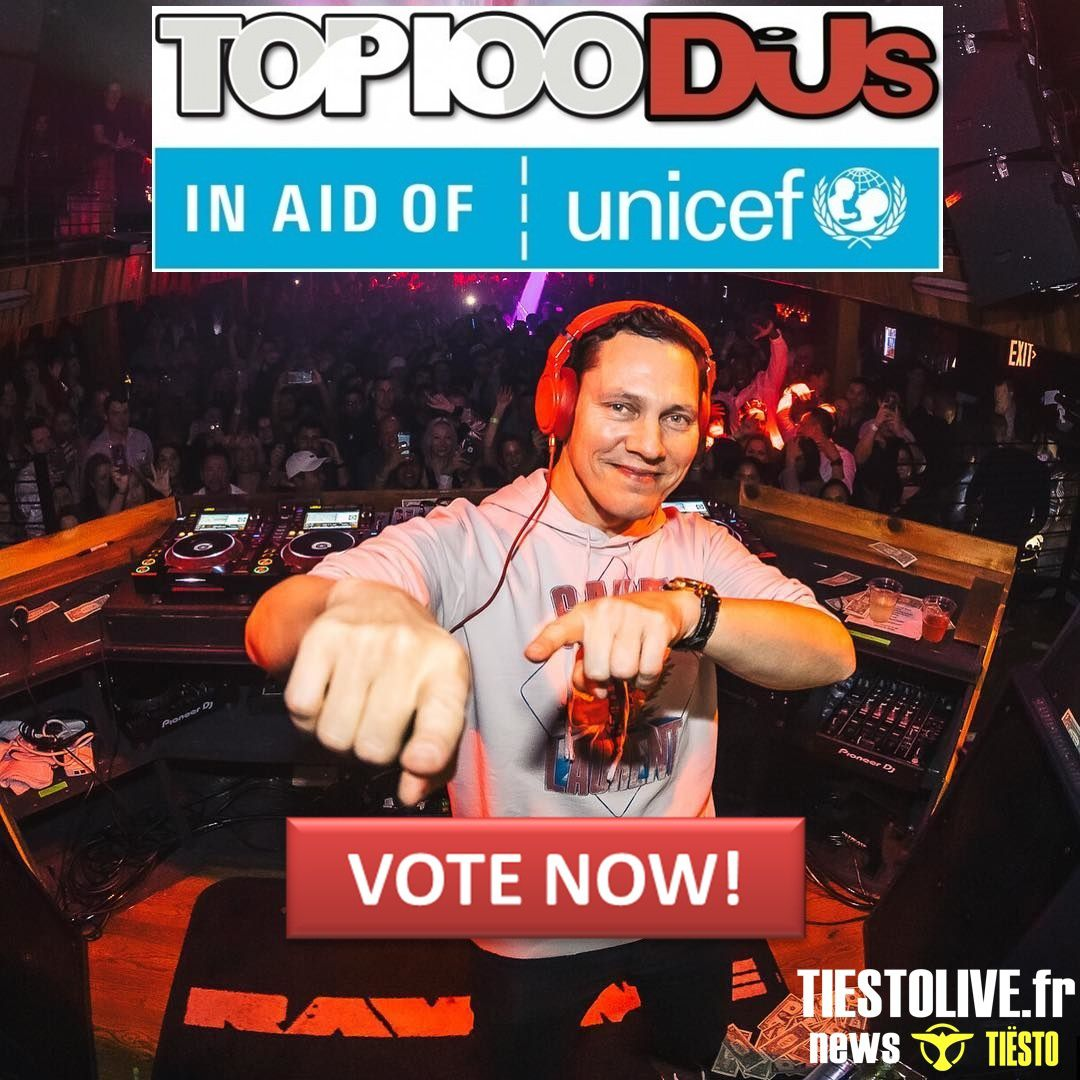 Top 100 Dj Mag 2019, vote for Tiësto now !!