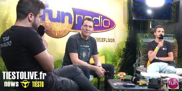 Interview vidéo, Tiësto at Tomorrowland 2019 for Fun Radio | French and English