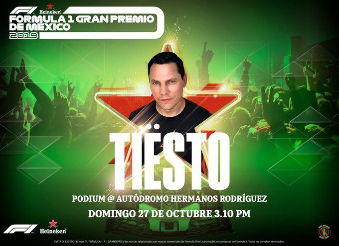 Tiësto date | Grand Prix of Mexico | october 27, 2019