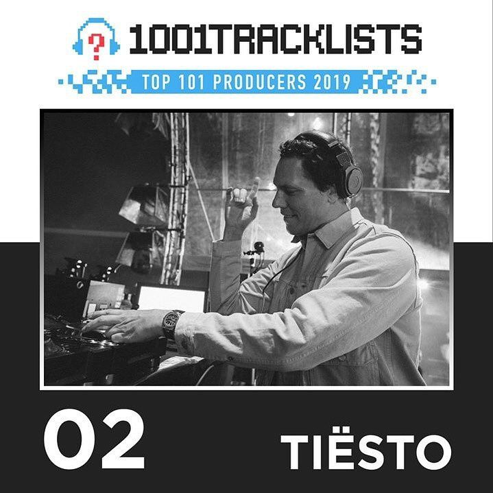1001 Tracklists - Top 101 Producers Of 2019 tiesto