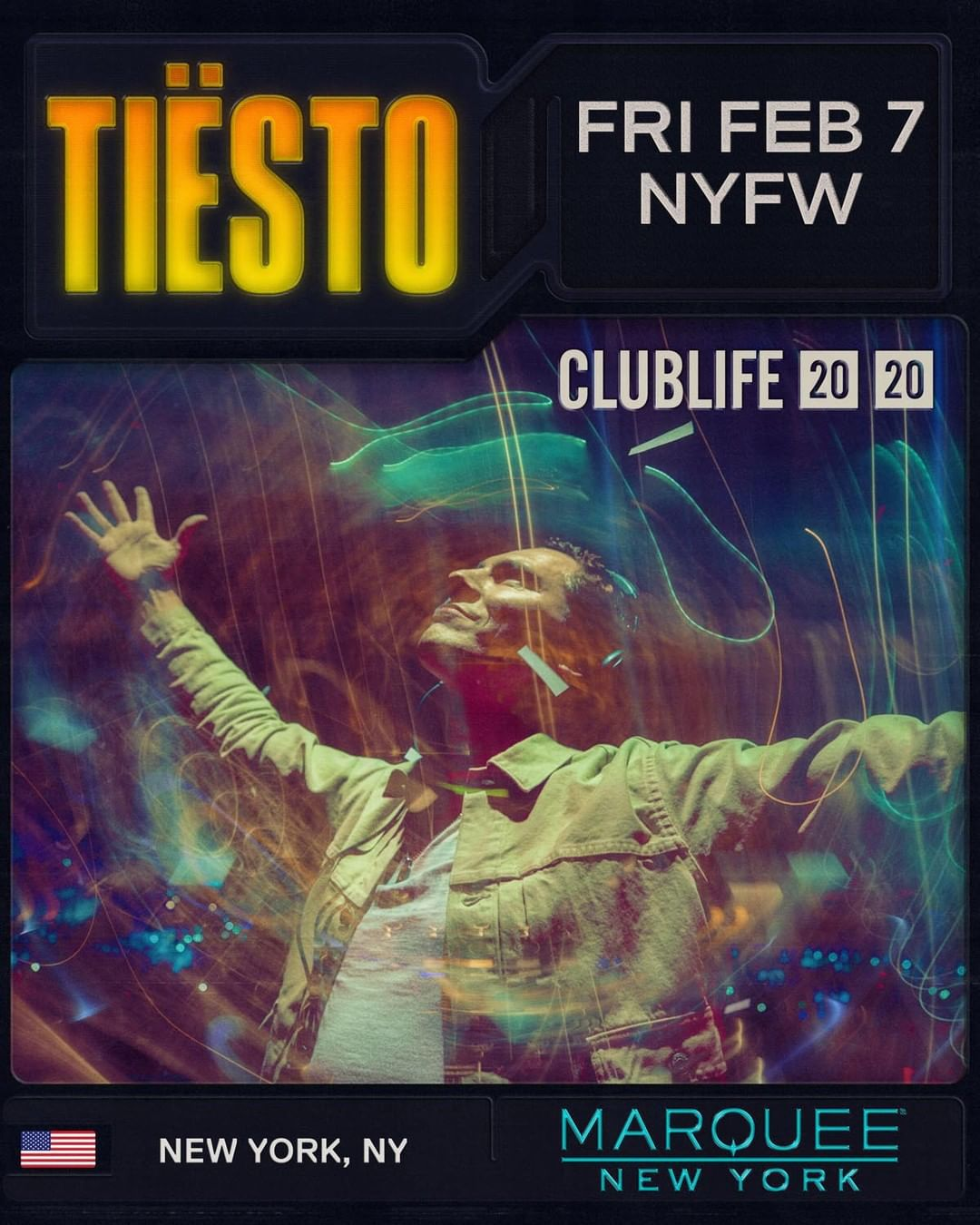 Tiësto date | Marquee | New York, NY - February 07, 2020