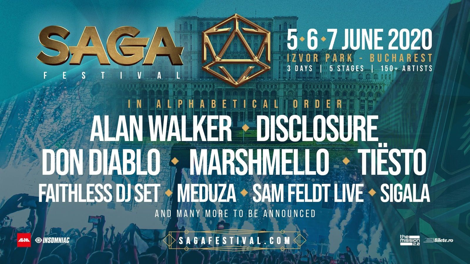 Tiësto date | SAGA Festival | Bucharest, Romania - june 5/7, 2020