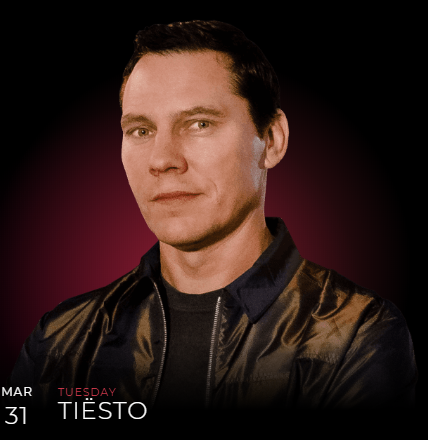 Tiësto date | Omnia | Las Vegas, NV march 31, 2020