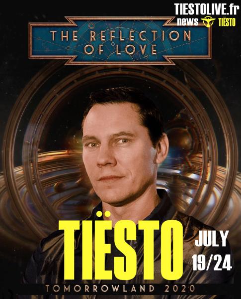 Tiësto date | Tomorrowland | Boom, Belgium - july 19 and 24, 2020