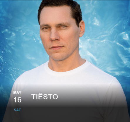 Tiësto date | Wet Republic | Las Vegas, NV may 16, 2020 | EDC Week