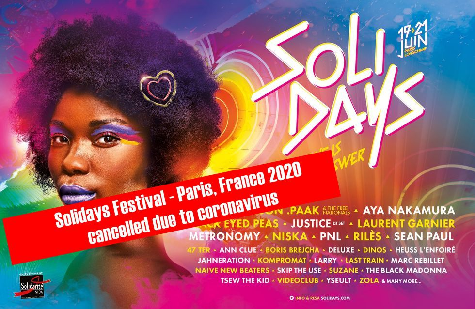 ⚠ Solidays Festival - Paris, France 2020, cancelled due to coronavirus ⚠