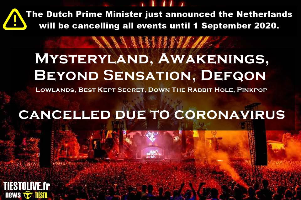 ⚠ Mysteryland, Awakenings, Beyond Sensation, Defqon and more - édition 2020, cancelled due to coronavirus ⚠ and Lowlands, Best Kept Secret, Down The Rabbit Hole, Pinkpop