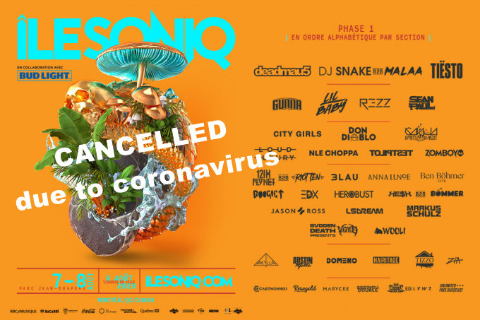 Tiësto date CANCELLED due to coronavirus | Ilesoniq | Montréal, Canada - August 7/8, 2020