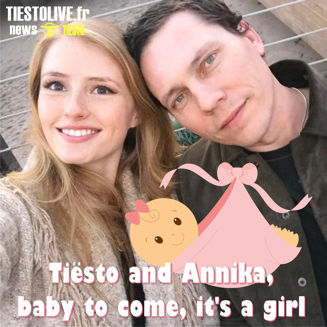 Tiësto and Annika, baby to come, it's a girl