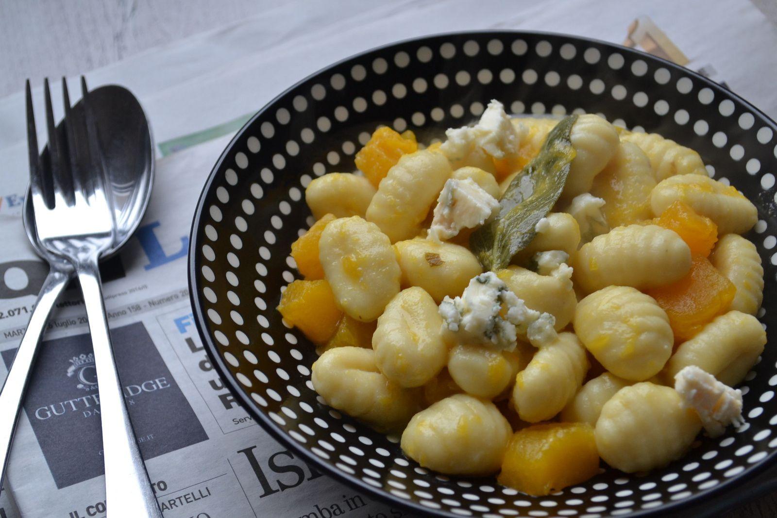 Gnocchi au potiron et Roquefort
