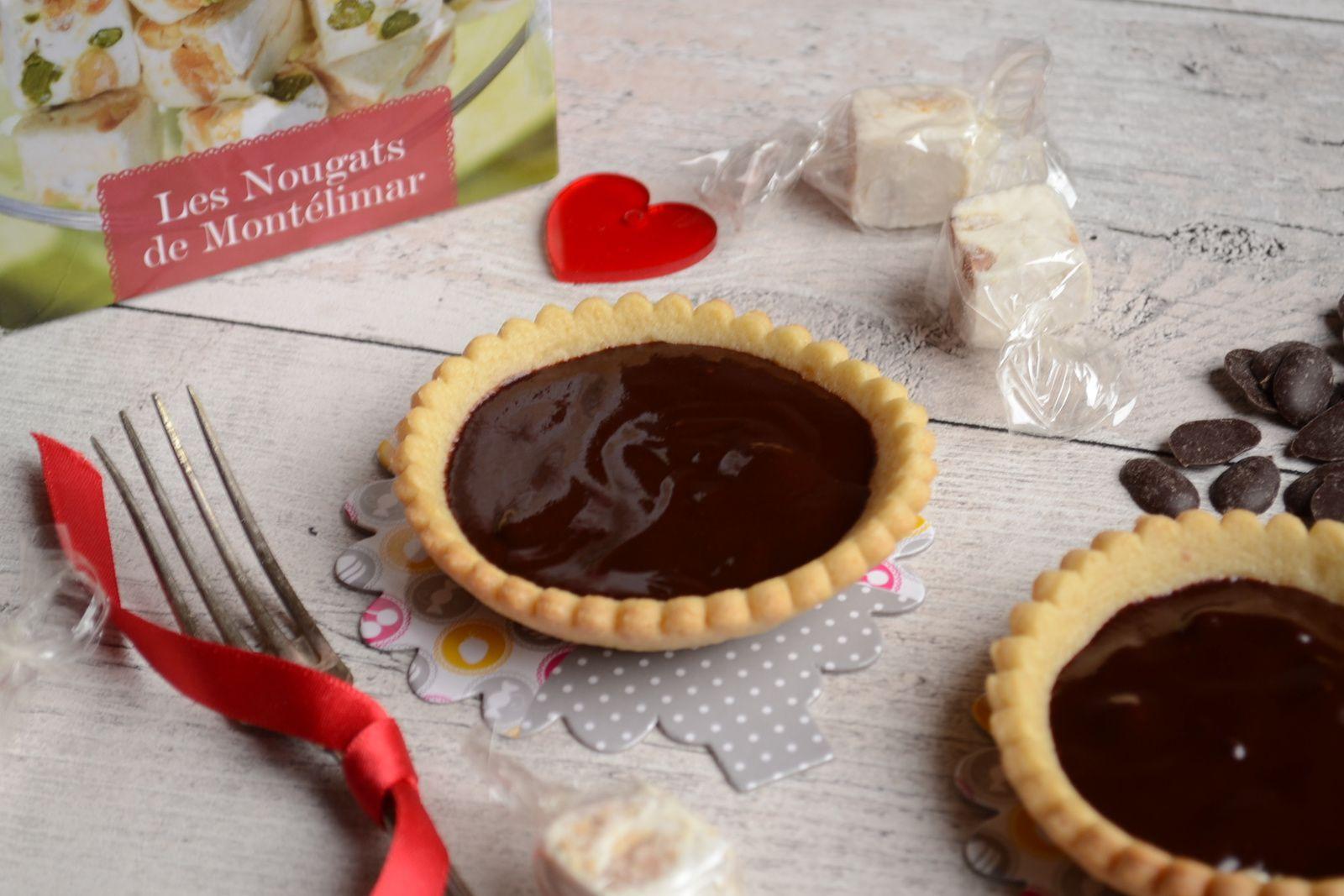 Tartelettes au chocolat et aux nougats de Montélimar  #Jours Heureux