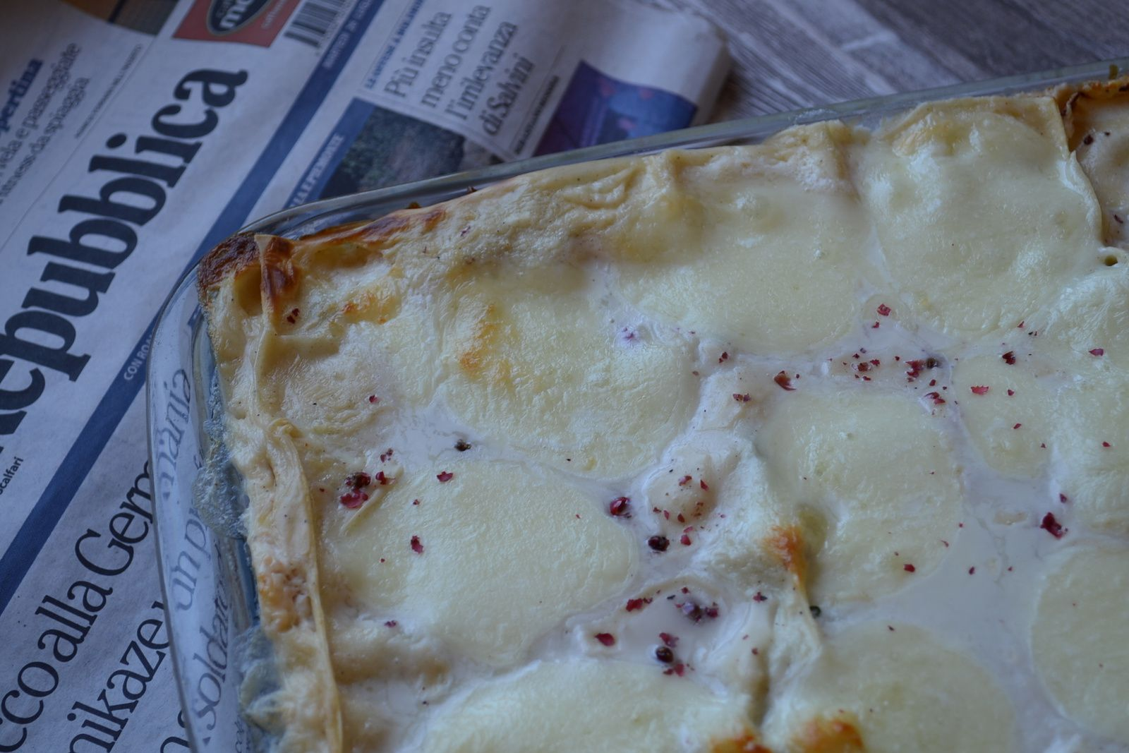 Lasagne crème ricotta/saumon fumé et épinards