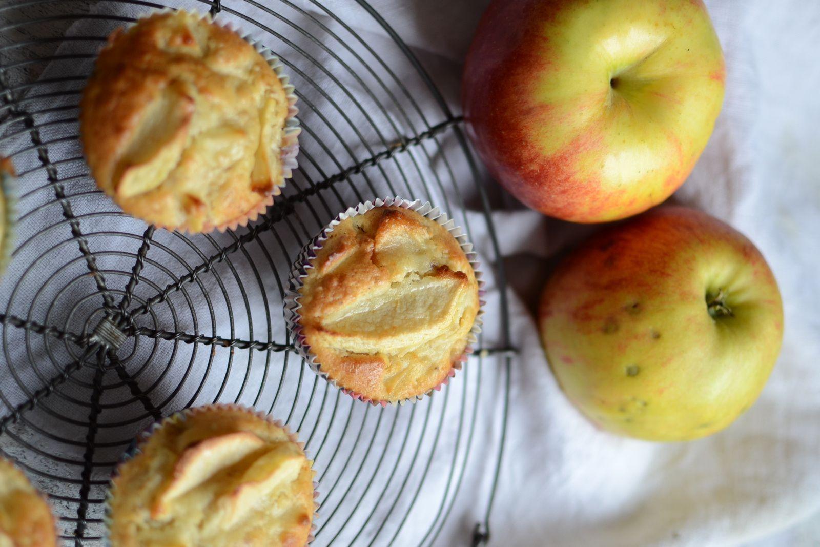 Muffins aux flocons d'avoine et pomme