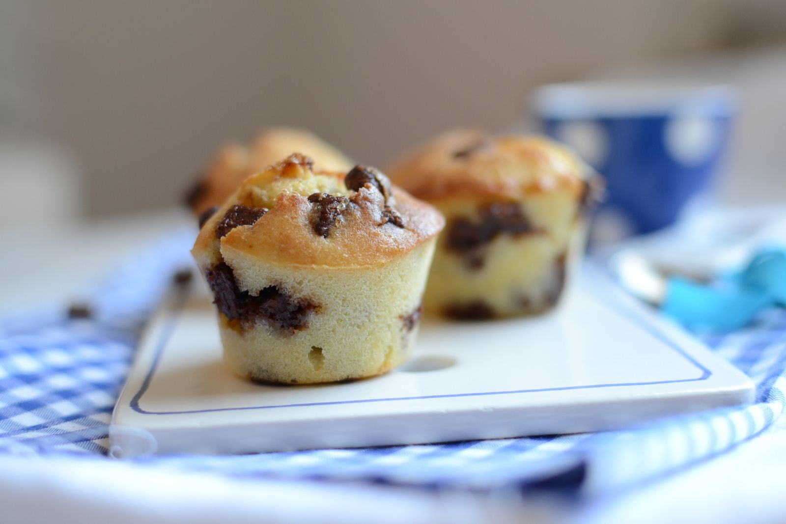 Muffins américains au chocolat
