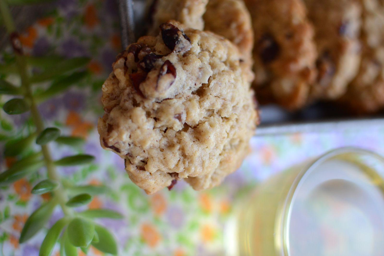 Cookies aux noix de pécan et cranberries