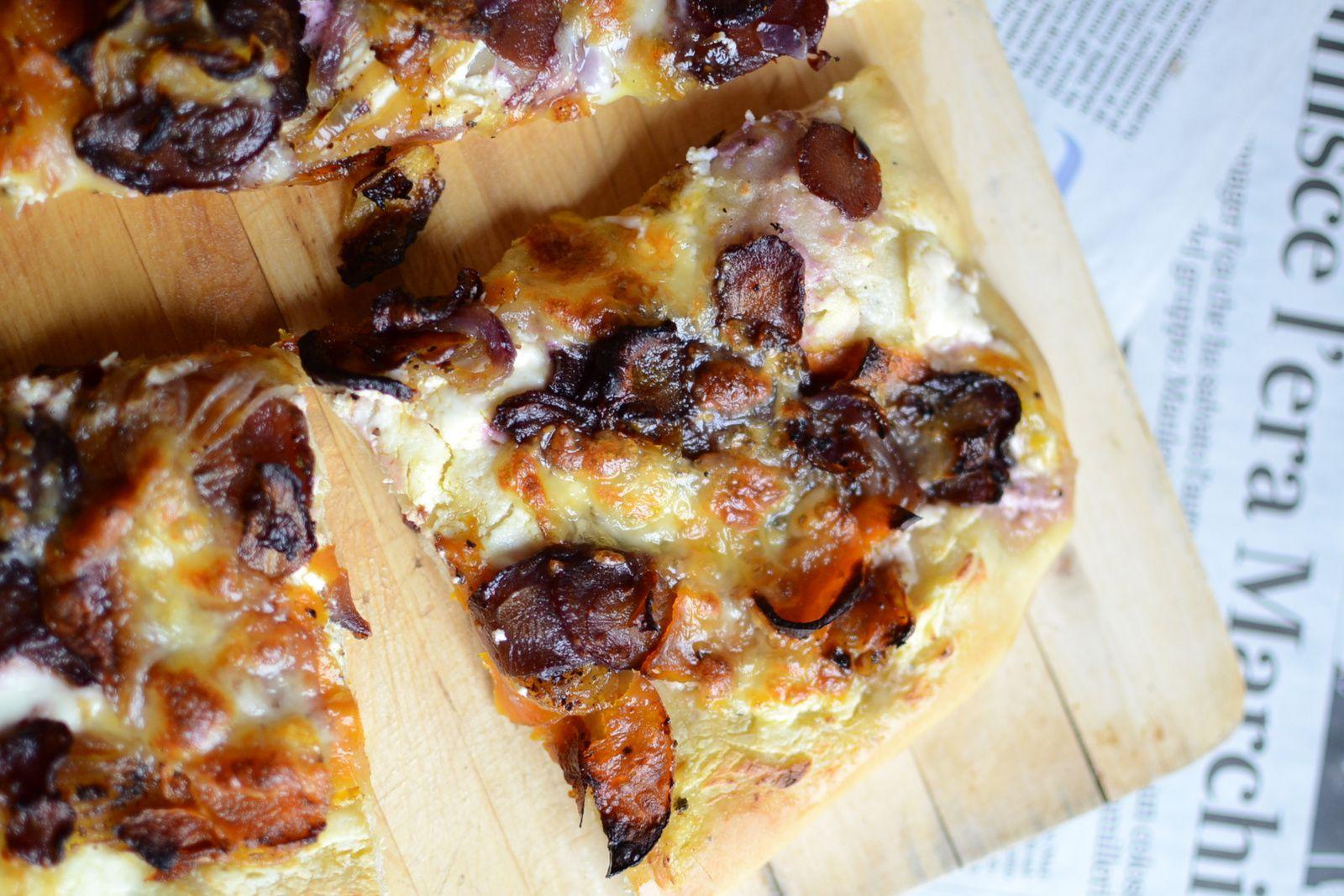 Pizza aux légumes d'hiver