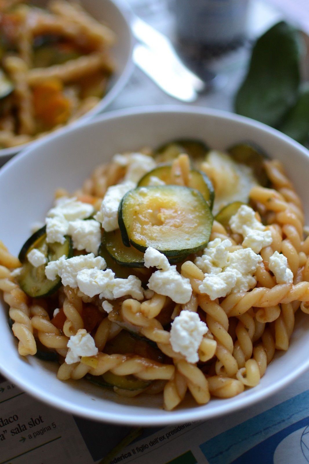 One pan Pasta courgettes carottes