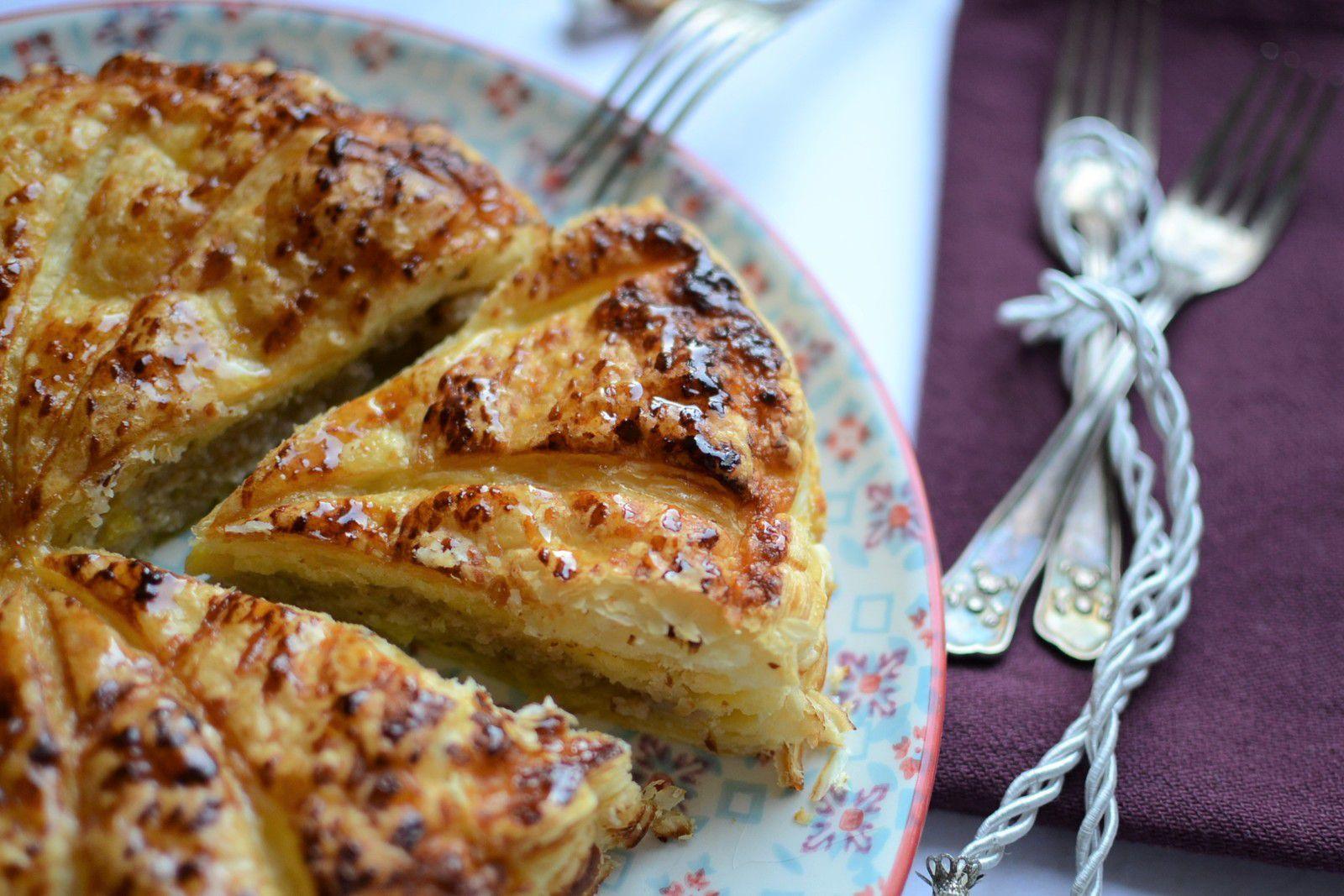 Galette des Rois, crème à l'amande, mangue fraiche #sans oeuf