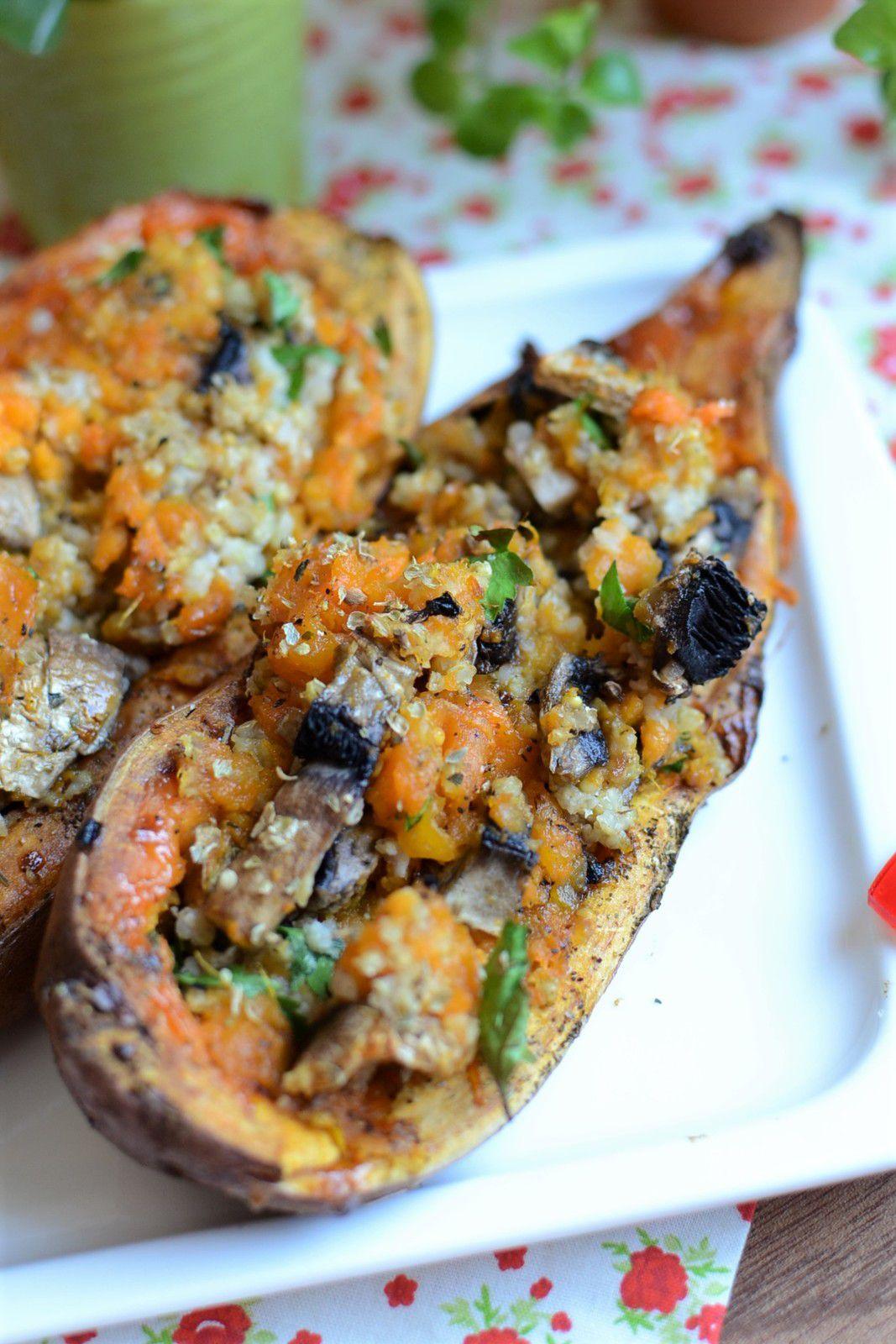 Patate douce au  four champignons et millet #végétarien
