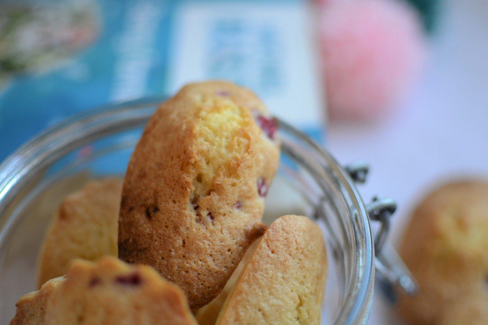 Madeleines noix de coco framboises