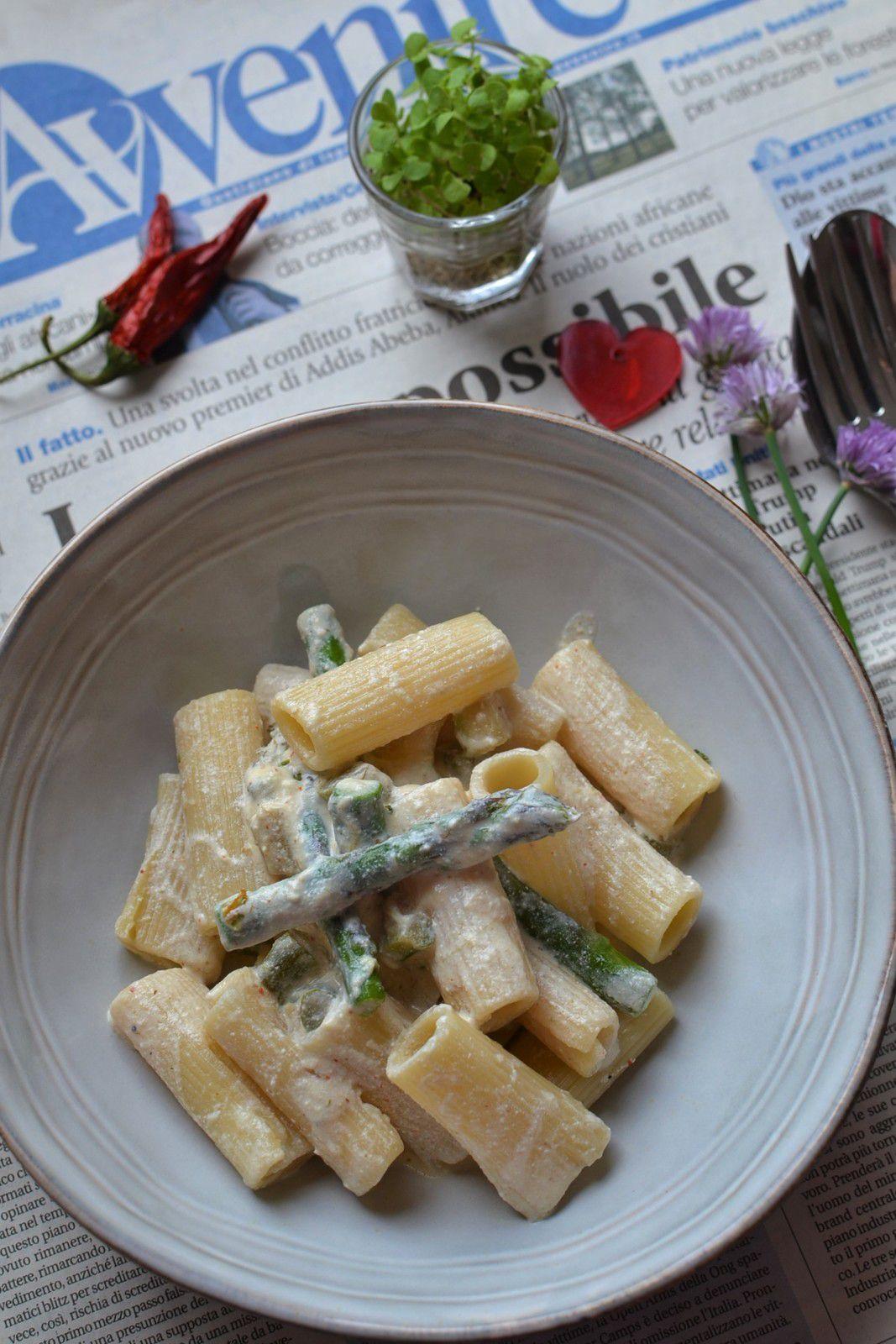 Pâtes asperges vertes et ricotta #végétarien