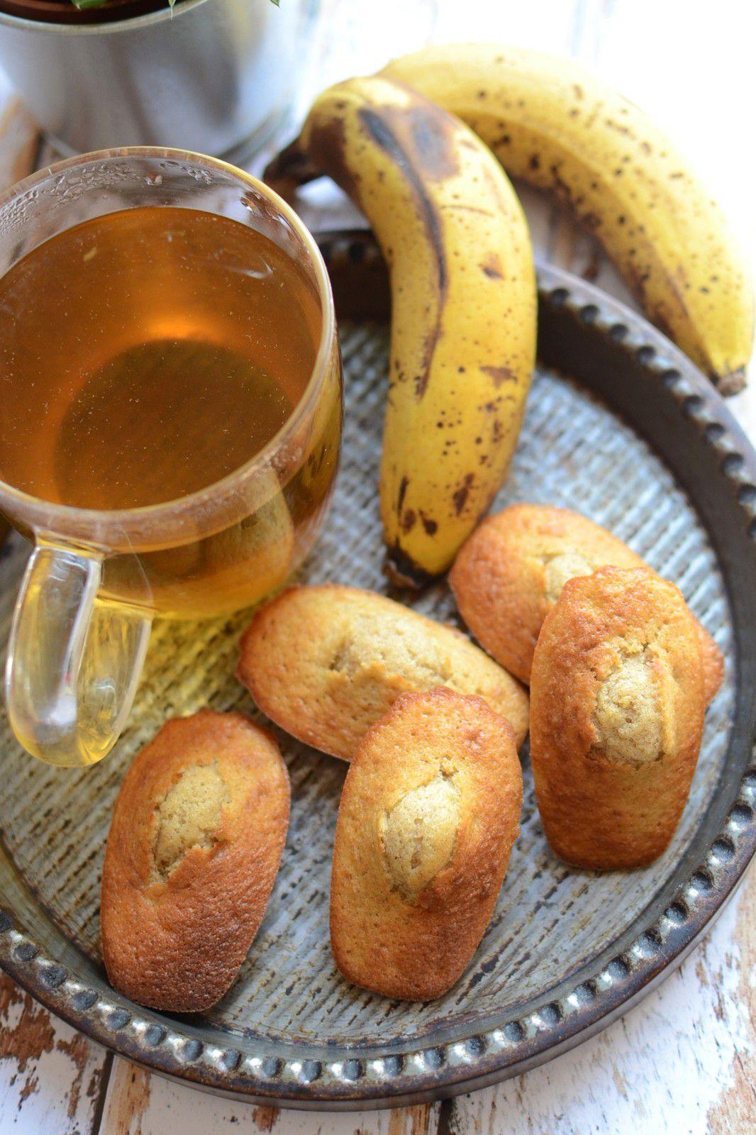 Madeleines façon banana bread