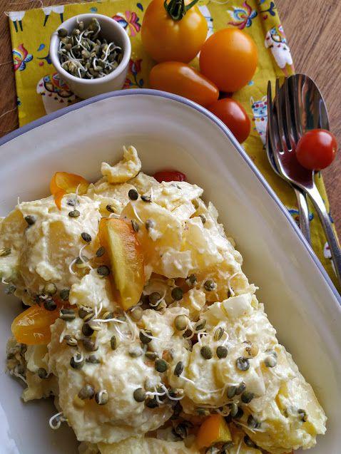Salade pommes de terre tomates lentilles vertes germées - L'Epicerie en bocal