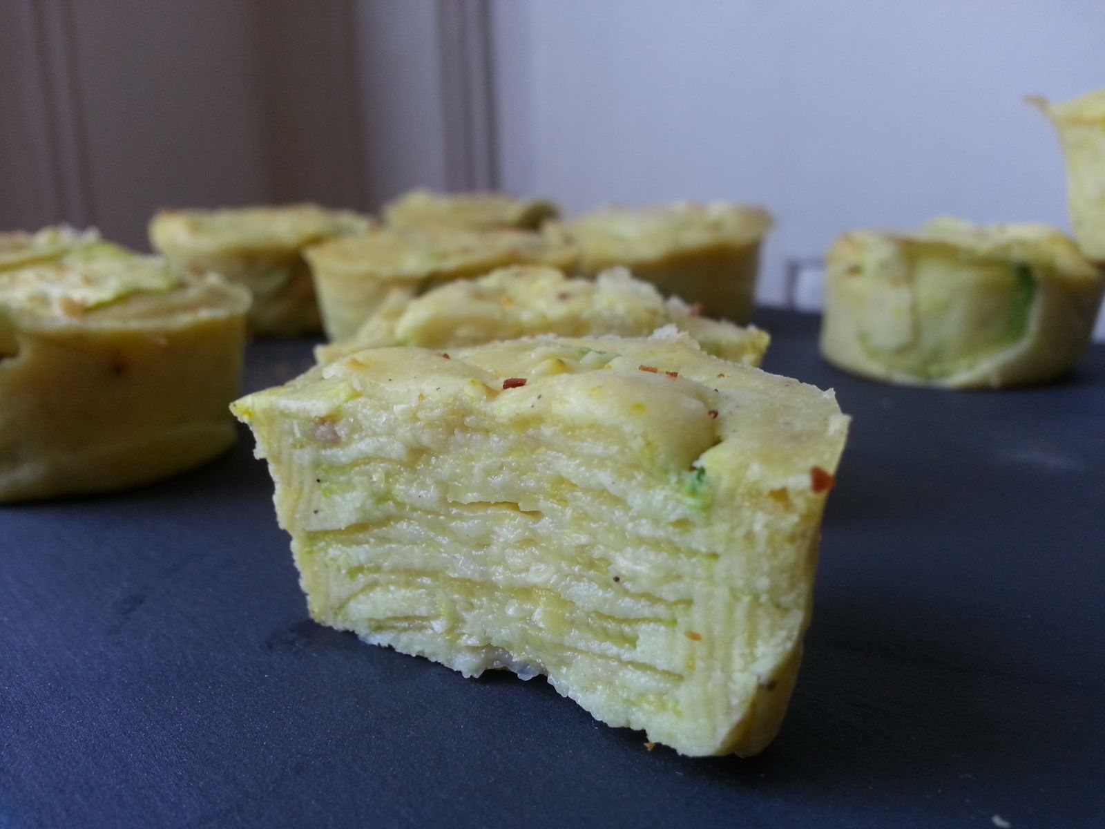 Gâteau invisible courgettes / curry