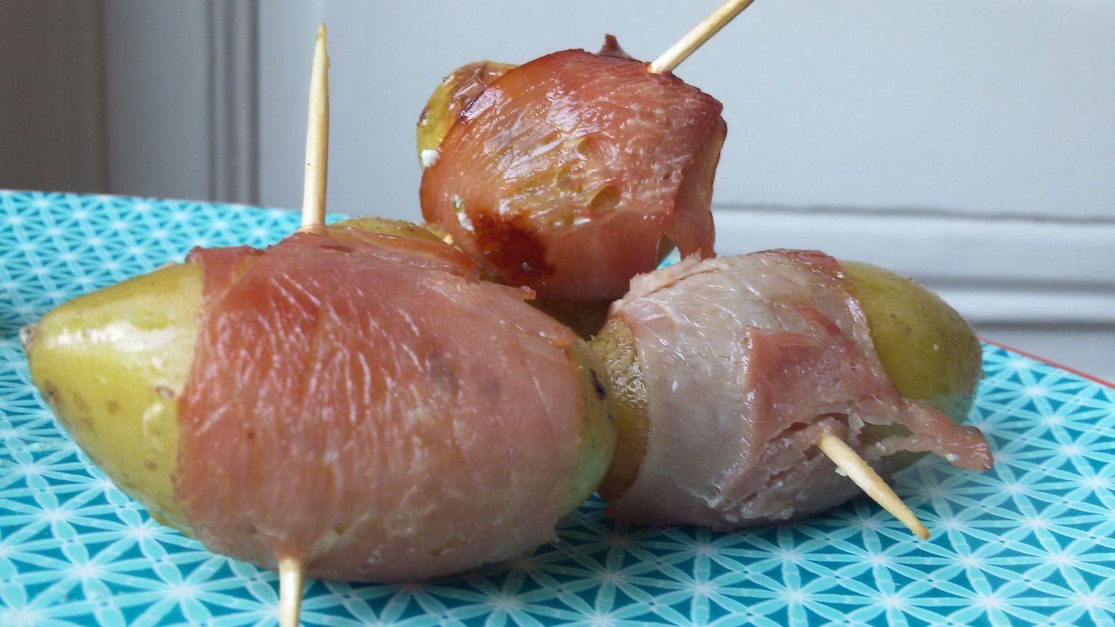 Pommes de terre grenailles au bacon